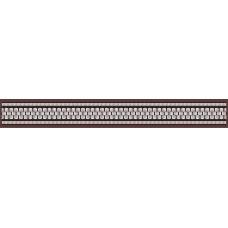 Бордюр  Эрмида  коричневый 5х40 см.