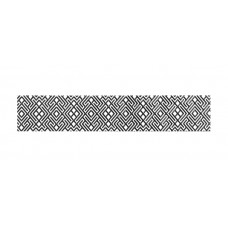Бордюр  КАМЕЛИЯ чёрно- белый  01 7,5х40 см.